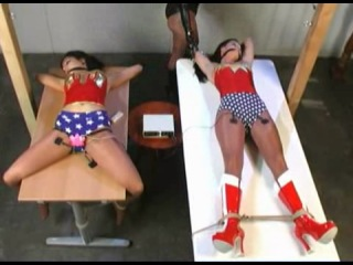 Wonderwomen bound and forced by Natali Demore! (lesbian domination) from Aztec (...